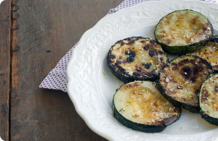 Grilled Zucchini with Parmesan (from Some Kitchen Stories)