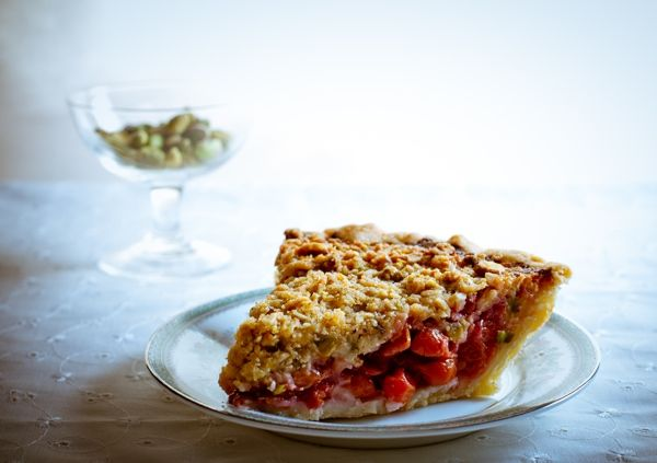 ... fan but I could get behind this (sour cherry pie w/pistachio crumble