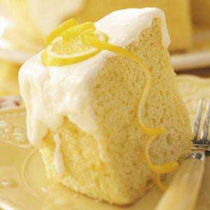 Texas Lemon Chiffon Cake | Luscious Lemon | Pinterest