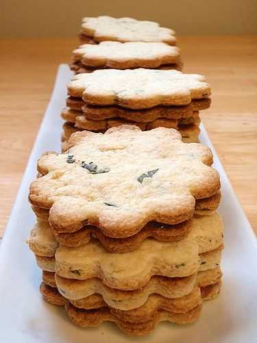 Sage and Apricot Shortbread Cookies | Baking: Cookies | Pinterest