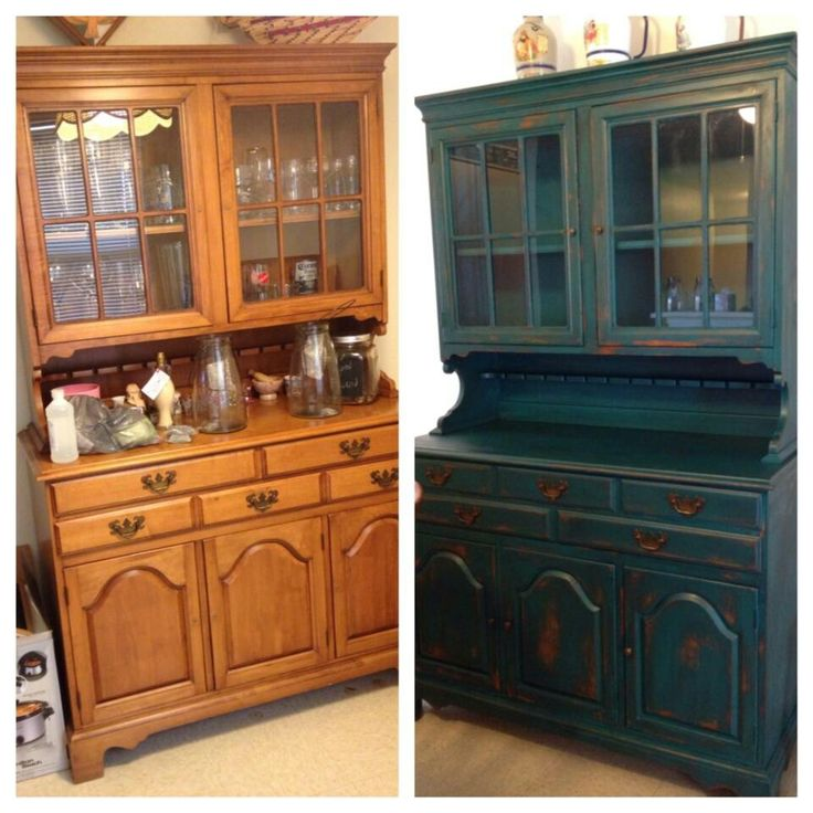before and after custom painted furniture by me pinterest