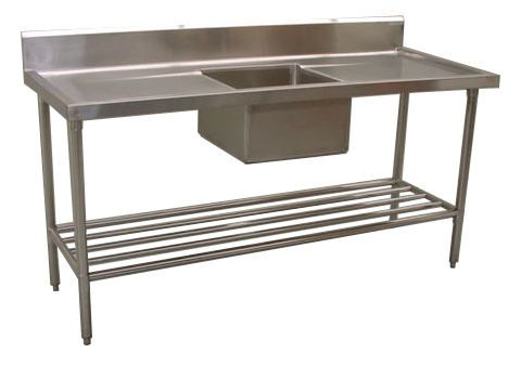 NEW COMMERCIAL KITCHEN SINK BENCH STAINLESS STEEL