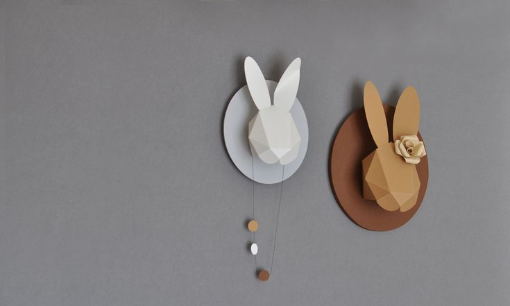Rabbit Heads to decorate your walls. Buy them in my shop!