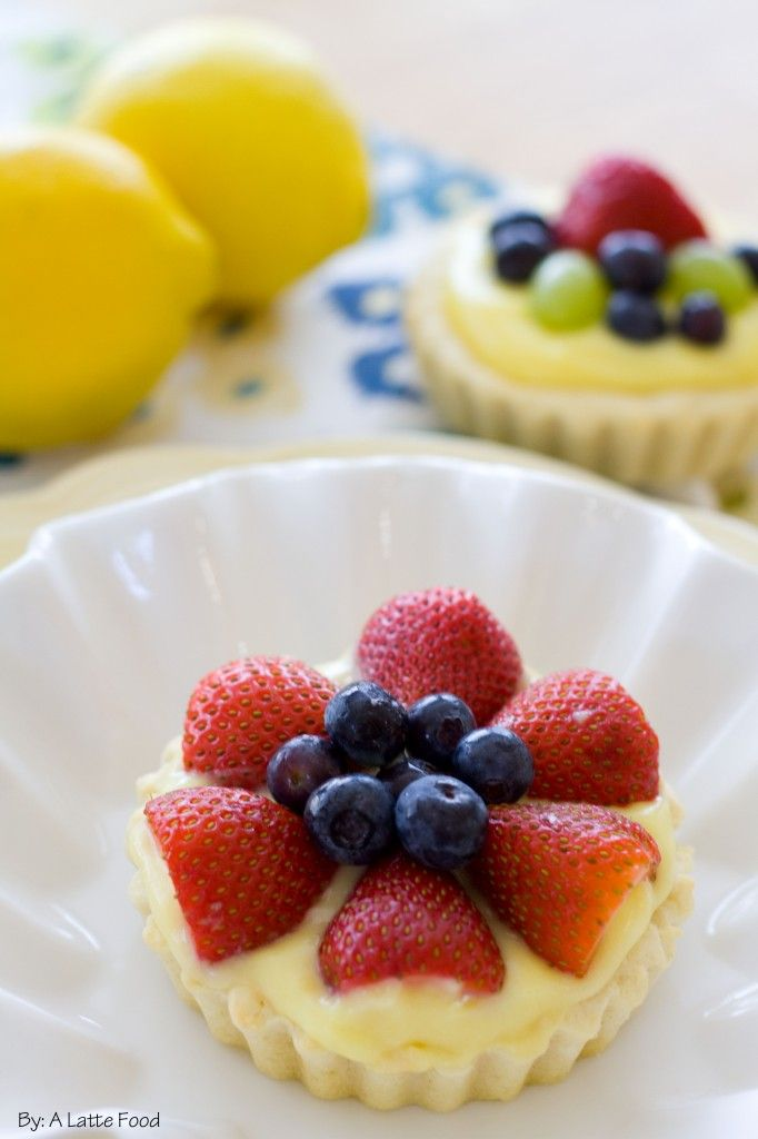 These mini sugar cookie fruit tarts are quick and mouth-watering ...