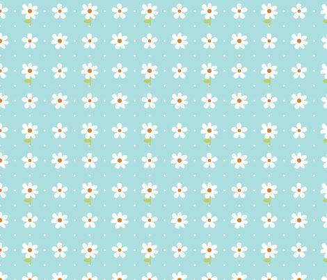 daisy fabric by christiem on Spoonflower - custom fabric