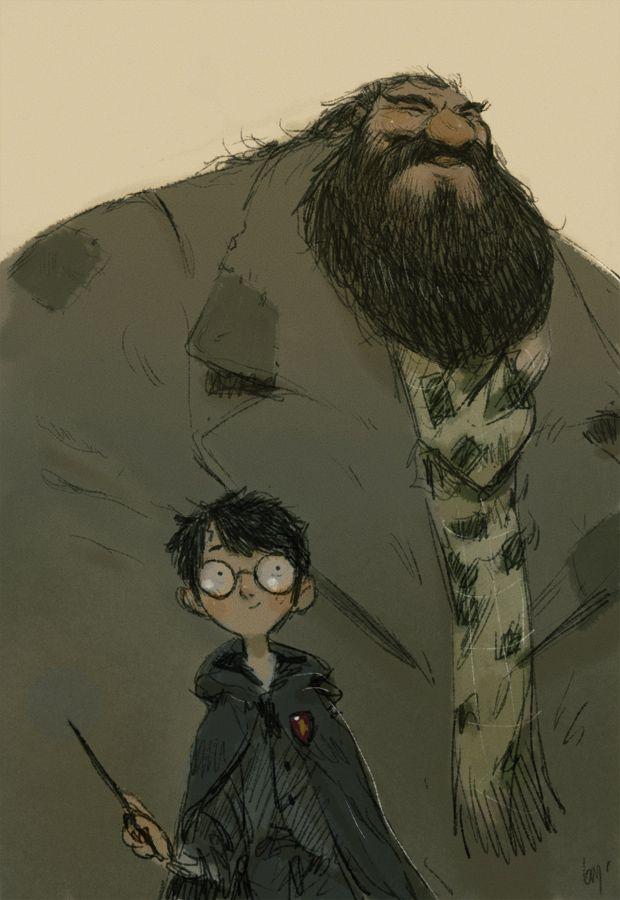 Harry Potter and Hagrid | Comics & concepts | Pinterest