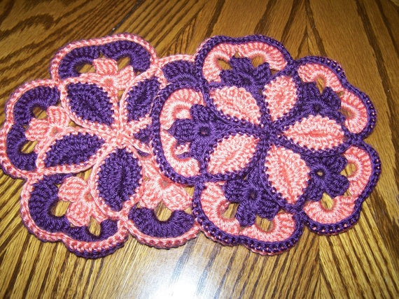 Crocheted Hotpads/Trivets Crochet Pinterest
