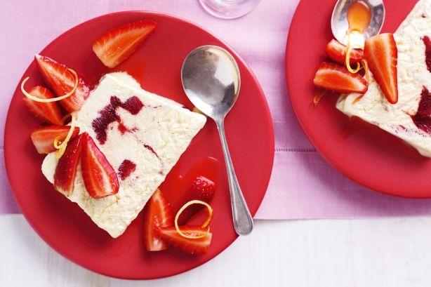 Strawberries and cream semifreddo. #recipes #food #ice_cream #summer # ...