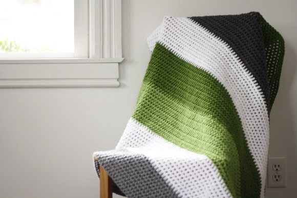 crochet color block blanket Crochet - Beginner Afghans ...