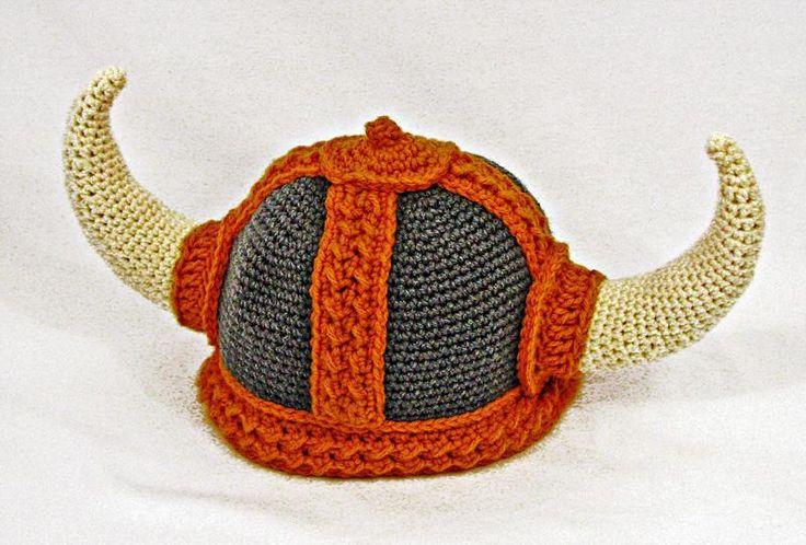 Crochet Viking Hat Pattern : Crocheted Viking hat through Craftsy Crochet Pinterest