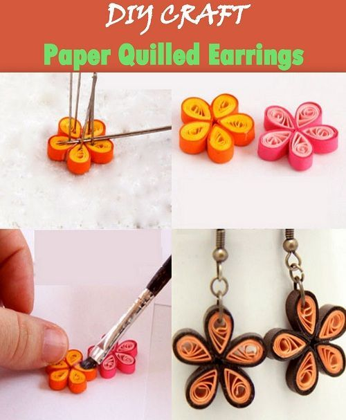 DIY: Paper Quilled Earrings | Manualidades | Pinterest