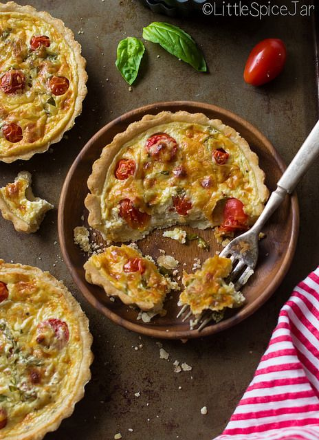 Quick & easy tomato basil tarts | Recipe