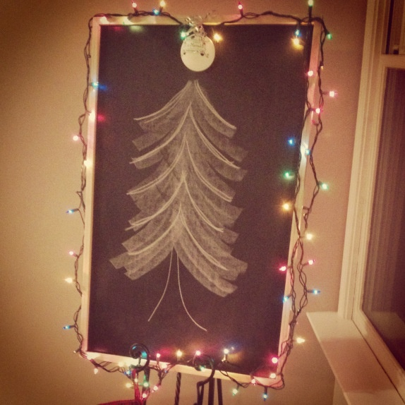 Chalkboard Christmas tree | DIY | Pinterest