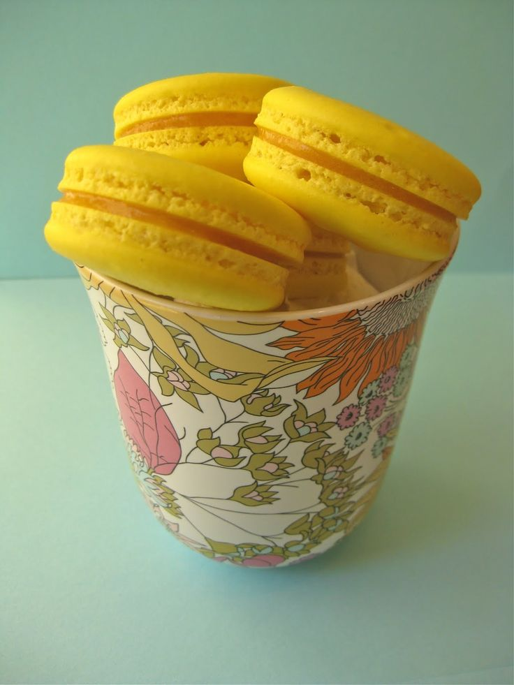 ... with passion fruit | Passion Fruit Macarons & Blackberry Macarons