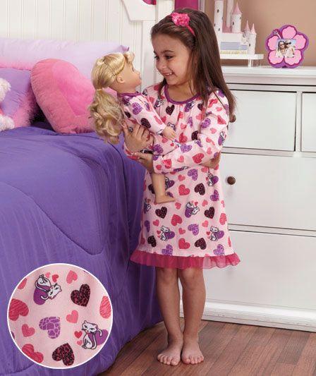 girl valentine pajamas