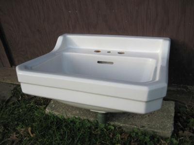 Gerber Wall Hung Sink : Antique Vintage Gerber Bathroom Sink Wall Hung 1950s