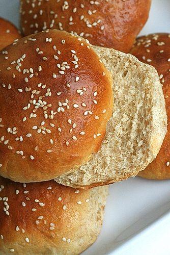 Honey Wheat Sandwich Buns | Breads & More Breads | Pinterest