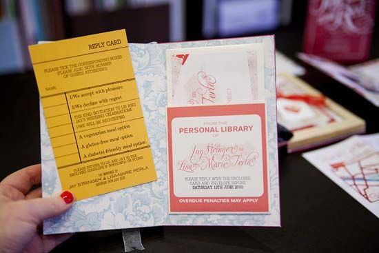 Library cards would make cool save the dates!