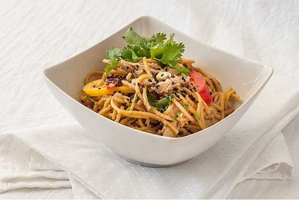 Asian Sesame Chicken Noodle Salad Recipe | Steamy Kitchen Recipes# ...