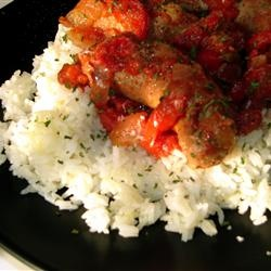 Slow Cooker Sausage with Sauce - Fresh Italian sausage--either spicy ...