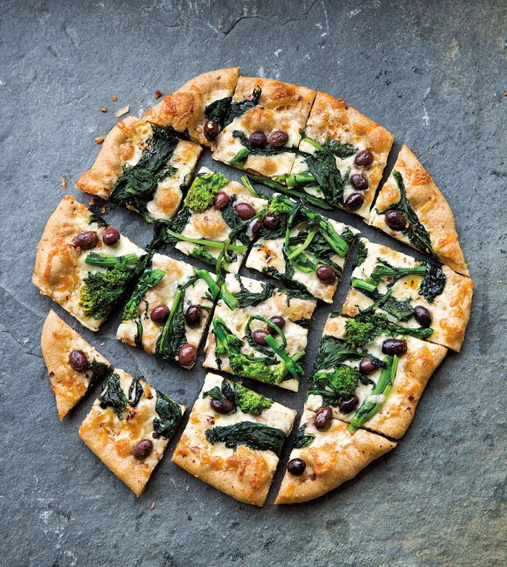 Broccoli Rabe & Olive Pizza | Succulent | Pinterest