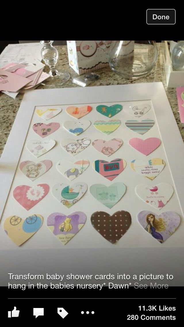 baby shower cards in a picture frame boom boom baby pinterest