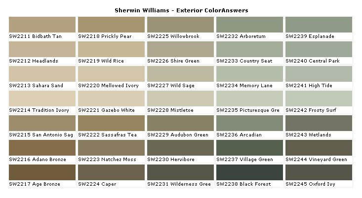 Sherwin Williams Exterior Paint Colors Good Idea Pinterest
