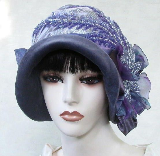 womens handmade vintage reproduction cloche hat