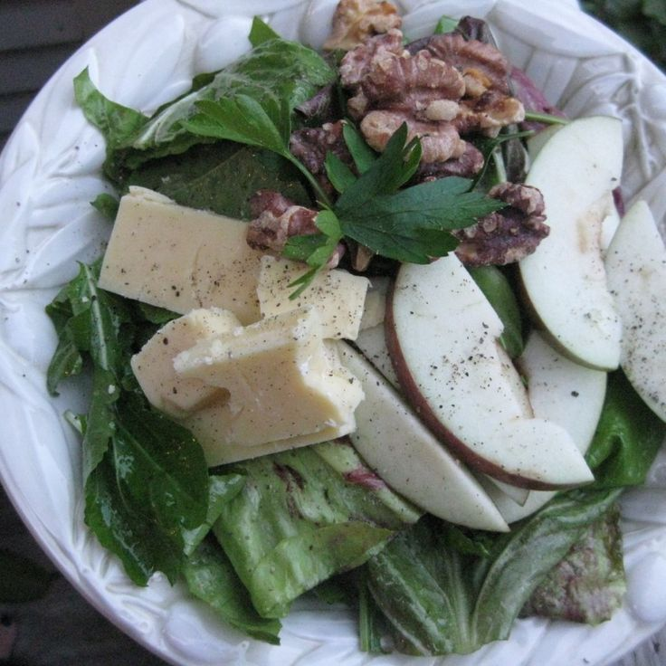 walnut, apple, & white cheddar salad ~ one of my favorite salads and ...