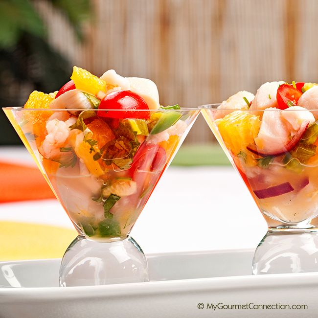 Shrimp and Scallop Ceviche with Tequila from MyGourmetConnection.com