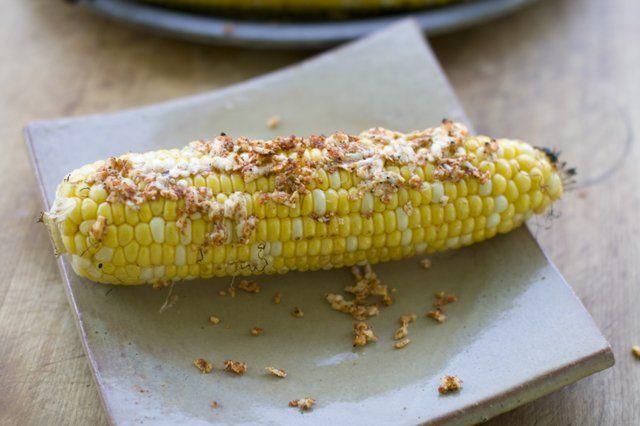 Grilled Cheesy Corn-On-The-Cob Recipe — Dishmaps