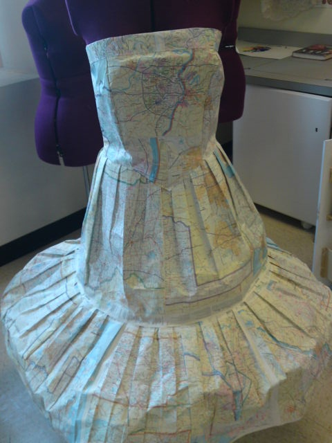 Recycle and redesign dress made from maps fccla ideas for Recycle and redesign ideas