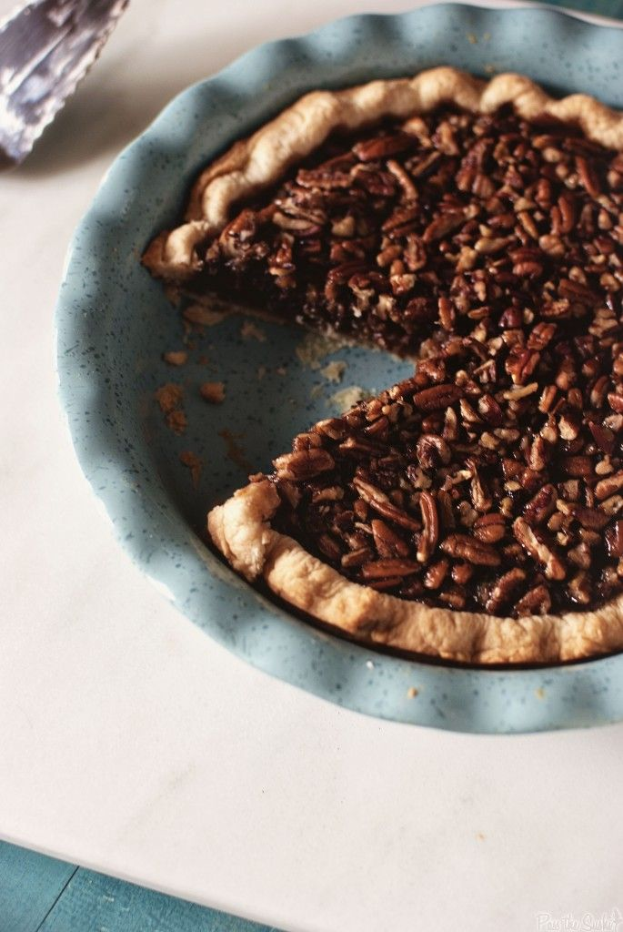 Oh, come on. How can I resist this Bourbon Chocolate Pecan Pie?