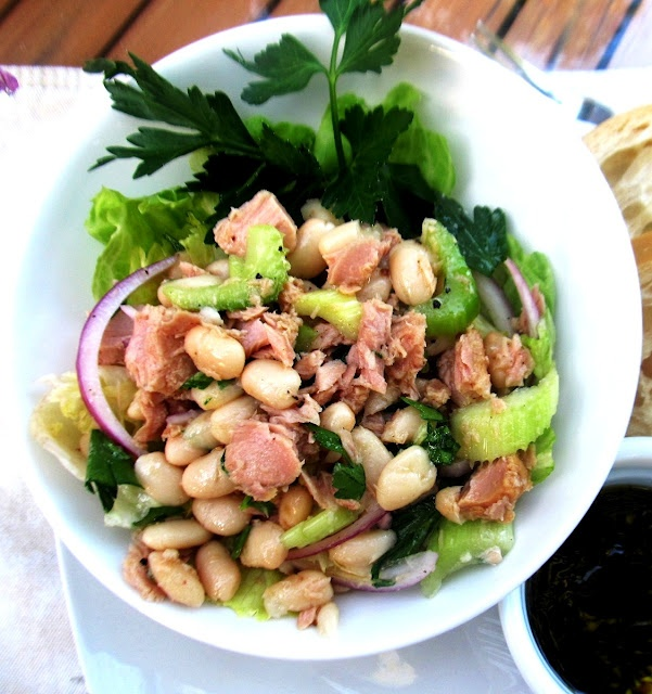 white bean and tuna salad via Food and Thrift
