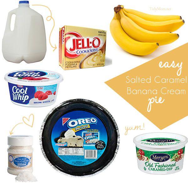 Salted Caramel Banana Cream Pie Ingredients from @cheryl ng ng Sousan ...