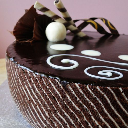 very fancy chocolate ripple cake | Cake inspiration | Pinterest