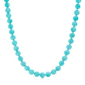 Paloma Picasso® bead necklace in amazonite with sterling silver clasp.