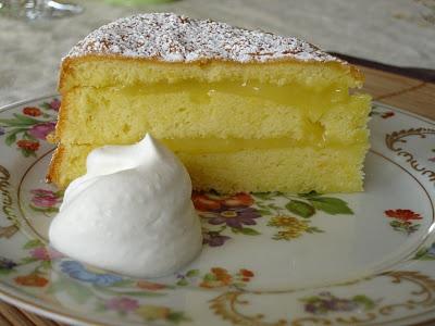 Meyer Lemon Cake with Lavender Cream   Food & Drink.   Pinterest