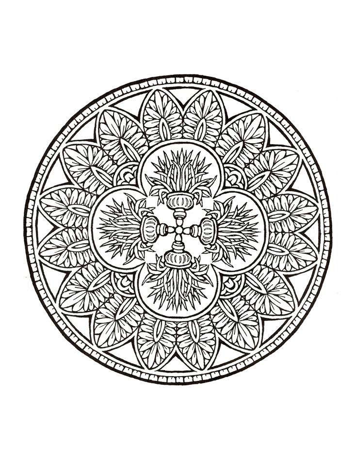 Mystical Mandala Coloring Book Coloring Pages For Mystical Mandala Coloring Pages