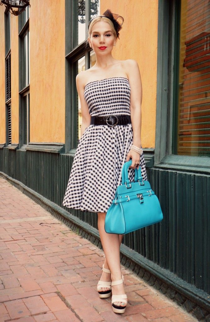 Gingham Print, Classic Style, Summer Dress