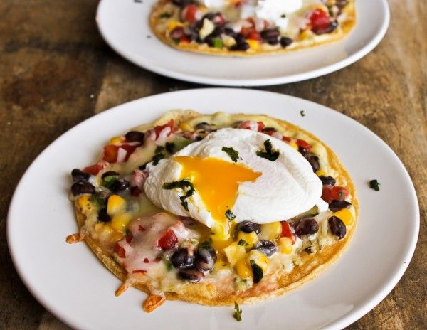 ... in this flavorful and colorful dish with a poached egg on top