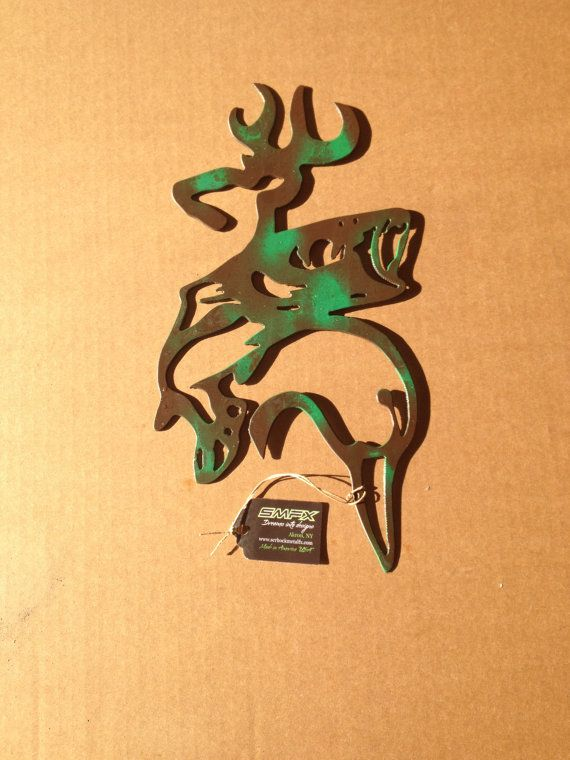 Browning Wall Art With Fish Camo By SCHROCKMETALFX On Etsy