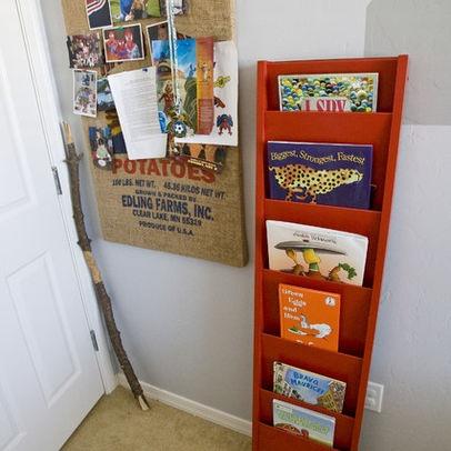 Great DIY book rack. Looks easy to make | Ideas | Pinterest