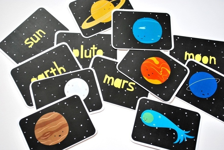 printable solar system flash cards - photo #34
