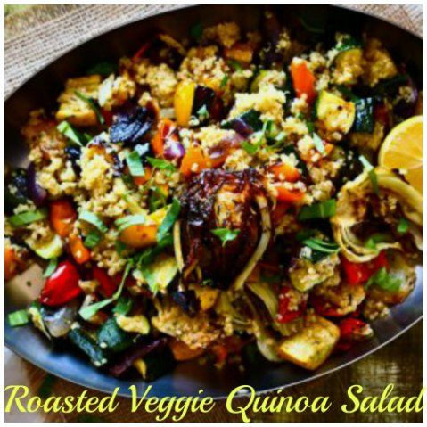 Roasted vegetable quinoa salad | Yummy Food & Drinks