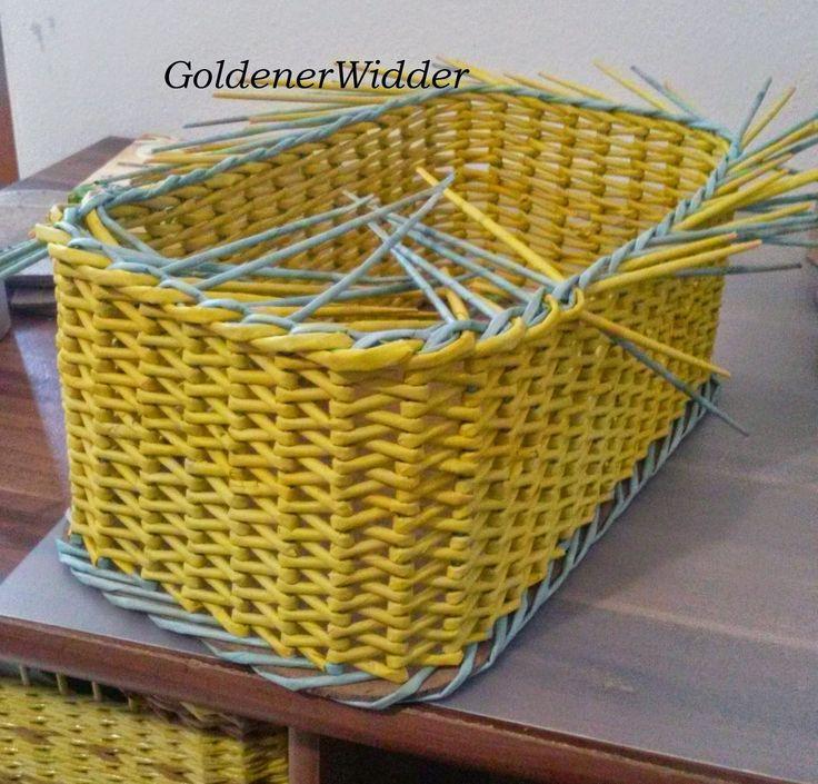 Плетение из газеты спиральное плетение