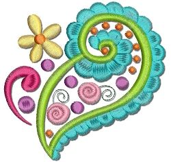 Free Paisley Machine Embroidery Designs