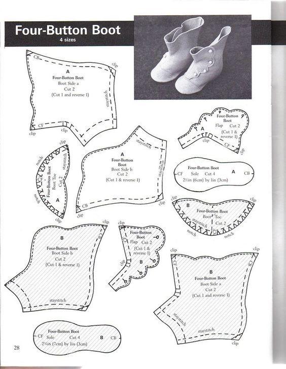 Выкройки обуви на куклу барби своими руками 41