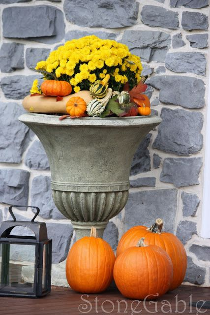 Great Fall Urn - StoneGable: Outdoor Fall Decor