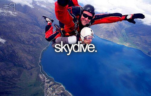 bucket list: skydive.